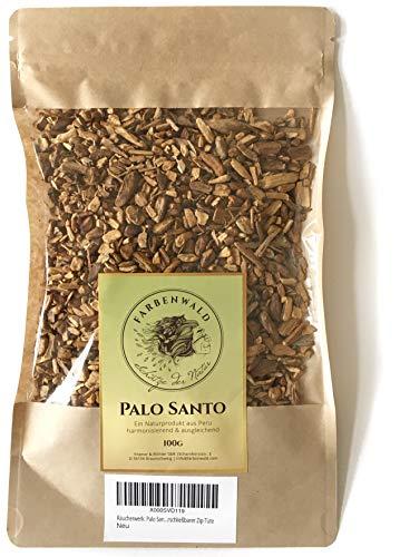 farbenwald Palo Santo - 100g, de Perú, virutas, Incienso, Bolsa con Cierre de Zip resellable