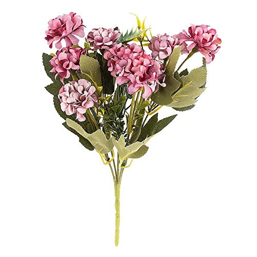 Ideen mit Herz Künstliches Blumenarrangement | Blumenstrauß | Blütenbusch | verschiede Blumen und Farben, 28 cm hoch, Blüten Ø ca. 3-4 cm (Beere, Hortensien)