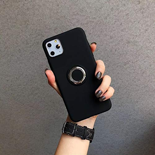 Travel Siliconen Phone Case for iPhone 11 Pro Max X XS XR Condom Shockproof Cover Total beschermhoes met Ondersteuning (Color : Black, Material : For iPhone 11)