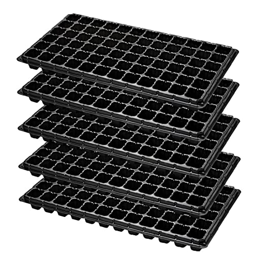 Planta Starter Kit, 72 de semillero celular bandejas de germinación de jardinería de plástico bandeja de cultivo de los potes de la mini planta propagador Grow bandeja Plug Kit de Inicio de