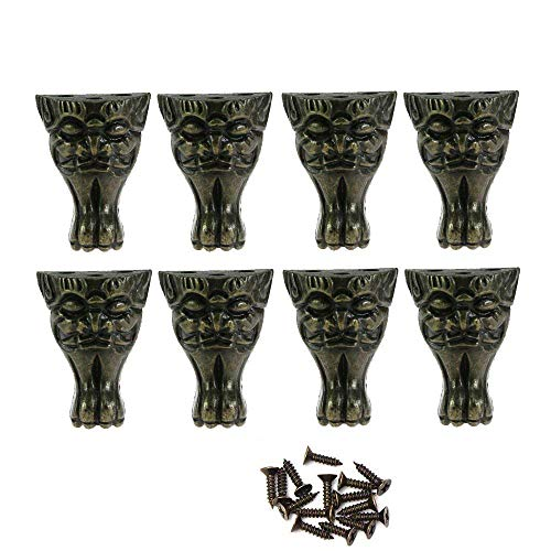 Paor-Eckenshutz, Antik-Zinklegierung, Bronze, für Holzkisten, Tischbeine mit Schrauben, 8 Stück