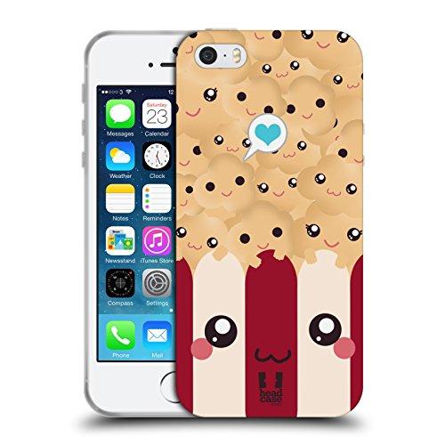 Head Case Designs Popcorn Kawaii Serie 1 Cover in Morbido Gel e Sfondo di Design Abbinato Compatibile con Apple iPhone 5 / iPhone 5s / iPhone SE 2016