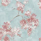 RoomMates Weeping Cherry Tree Blossom Pink Peel and Stick Wallpaper | Removable Wallpaper | Self Adhesive Wallpaper