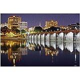 HDハリスバーグペンシルベニア州-夜に照らされる橋とスカイライン9023526(大人用のプレミアム500ピースジグソーパズル52x38cm)