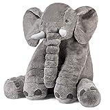 象のぬいぐるみ ふわふわなおもちゃ 像ゾウ ぬいぐるみ 子供達の為の柔らかい大きなギフト 60CM グレー (灰色)