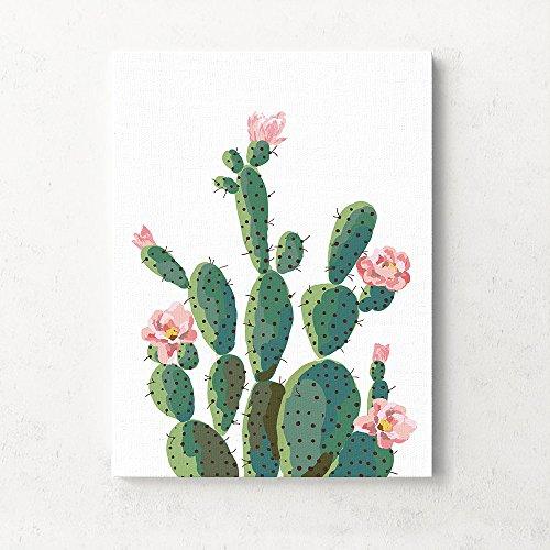 Planta Tropical decoración de Flores de Cactus Sala de Estar sofá Fondo Pared Colgante Pintura Pegatinas de Pared Indoor Decorations (Size : L)
