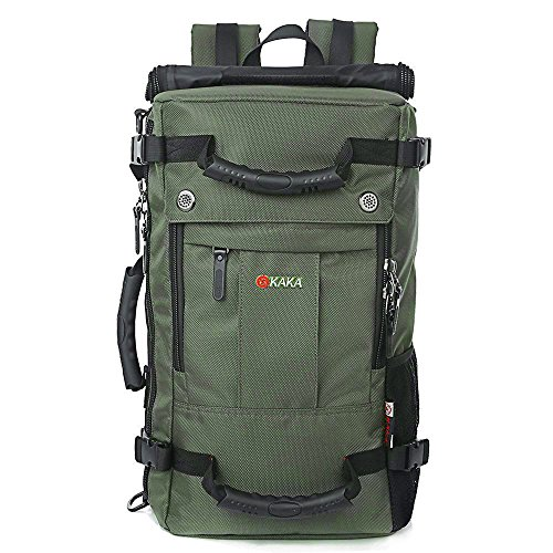 Trekkingrucksack Wasserabweisend Damen Rucksack Herren Reiserucksack für Camping und Outdoor (Grün)