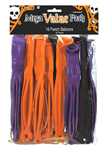 amscan Halloween Ghoulish Punch Balloon,Multicolor,12' x 7 1/2'