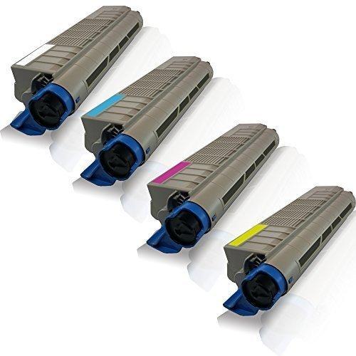 4x kompatible Tonerkartuschen für OKI C-822 C-822-N C-822-DN C-822-CDTN Black Cyan Magenta Yellow - Sparset