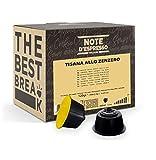 Note d'Espresso Italiano - Cápsulas de Tisana de Jengibre, Compatibles con cafeteras de cápsulas Nescafé, Dolce Gusto, 48 unidades de da 2.5g, Total: 120 g
