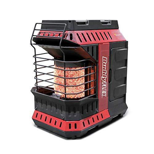calentador rojo de la marca Mr. Heater