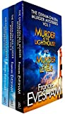 The Exham-on-Sea Murder Mysteries Series Volume 1 - 3 (6 Titles in 3 Books) Collection Set by Frances Evesham (Lighthouse, Levels, Tor, Cathedral, Bridge & Castle)