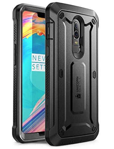 SupCase OnePlus 6 Hülle 360 Grad Handyhülle Bumper Case Robust Schutzhülle Cover [Unicorn Beetle Pro] mit Integriertem Displayschutz und Gürtelclip für OnePlus 6 2018 (Schwarz)