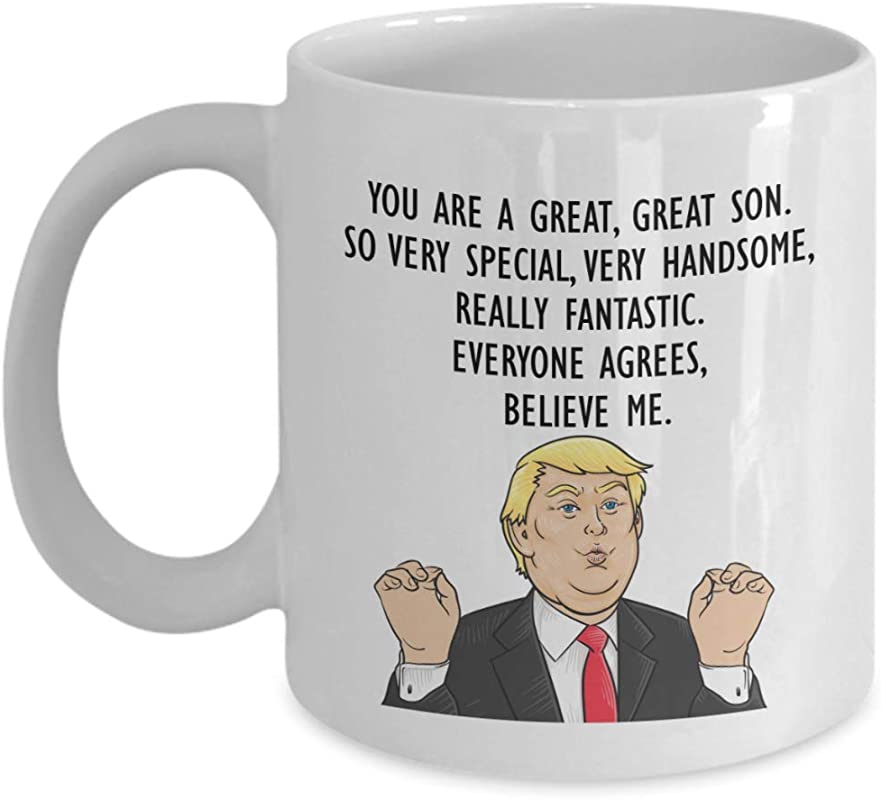 Funny Trump Head Son Mug Donald Trump Coffee Cup Gifts For Son President Son Novelty Gift Idea