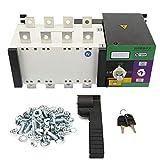 Controlador de energía dual, tipo de aislamiento 4P 250A Controles de voltaje de suministro automático de energía dual Generadores de interruptores de transferencia Potencia 3C Rango de voltaje 37V-44