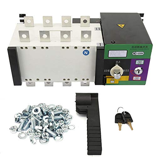 Jadpes Dual Power Controller, 4P 250A Isolationstyp Dual Power Automatische Steuerung der Versorgungsspannung Übertragungsschalter Generatoren Leistung 3C Spannungsbereich 37V-440V