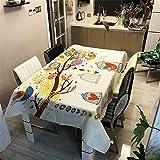 Morbuy Nappe Rectangulaire Nappe de Table Imperméable Étanche à l'huile Ménage Table Basse Extérieure Nappe Lavable Facile d?Entretien pour Picnic Cuisine Jardin (d'or Arbre,140x200cm)