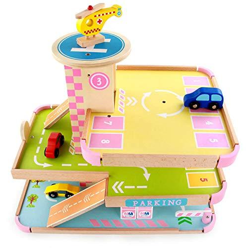 Juego del Cerebro Automóviles Juguetes reunidos Autovía de madera modelo de simulación de madera for niños de varios pisos de Aparcamientos juguetes educativos Promover Física y Desarrollo Int