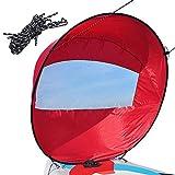 Windsegel Downwind Windsegel Faltbares Bootssegel Tragbare Windsurfsegel für Kajakboot Segelboot Kanu (42 Zoll)