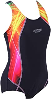 BYLIKE Girl Professional Competitive Racerback Swimsuit One-Piece Athletic Bathing Suit