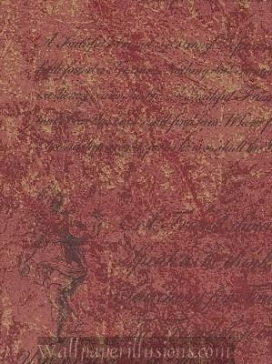 Tuscan Red 5812295 Script Illusion Paper Illusions Wallpaper Torn Faux Finish PaperIllusion Wallpaper 85 Square Foot Roll