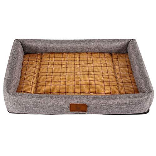Cama para Mascotas Perro cama cama de gato estera for mascotas se puede lavar, antideslizante jaula de perro cama del perro cama comida estera del animal doméstico, adecuado for menos de 12,5 kg, este