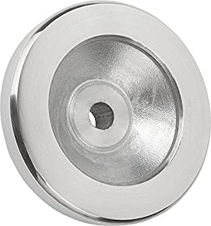 Anthracite Grey Wheel Cap Color Pack of 10 57 mm Height Inch Size 3 63 mm Diameter Kipp 06268-23CN Thermoplastic Novo/·Grip Grey Without Tapped Set Screw Hole Positioning Wheels Style H