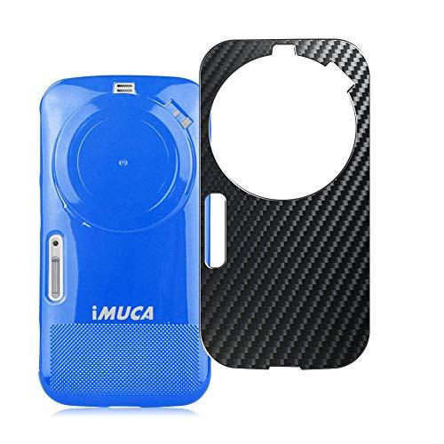 VacFun 2 Piezas Protector de pantalla Posterior, compatible con Samsung Galaxy K Zoom C1158 c1116, Película de Trasera de Fibra de carbono negra