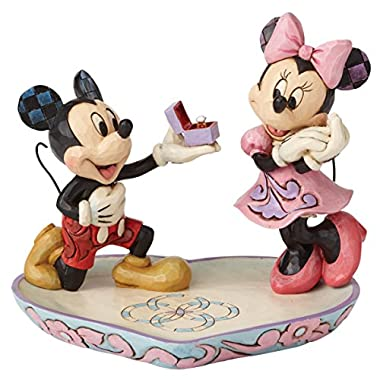 Disney Traditions by Jim Shore - Mickey Proposing To Minnie Ring Dish