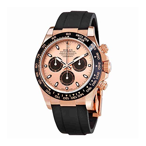 Rolex Cosmograph Daytona Pink and Black Dial Mens Chronograph Oysterflex Watch 116515PBKSR