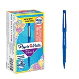 Paper Mate Flair Feutres de Coloriage, pointe moyenne (0,7mm), bleu, lot de36