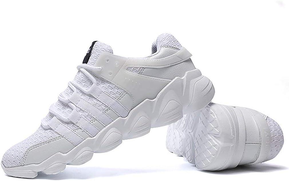 Otoño Invierno Hombres Zapatillas de Deporte Zapatos para Correr Tejido de Punto Transpirable Zapatos Deportivos para Hombre Ropa Diaria Zapatilla de Deporte de Moda Negro, 41 Uniquelove