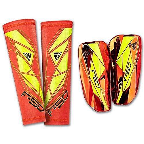 adidas F50 Pro Lite Schienbeinschoner (High Energy Orange, Electricity Yellow, Black, Größe L)