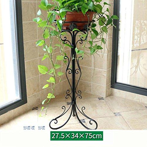 FZN Stand de Fleurs Balcon de Plain-Pied en Fer forgé Salon de Style européen intérieur assemblé des Pots de Fleurs d'araignée Pots de Fleurs (Taille : 34 * 75cm)