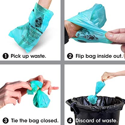 Bags on Board Strong, Leak Proof Dog Poop Pick-up Bags - Ocean Breeze scent (140 Bags) 3