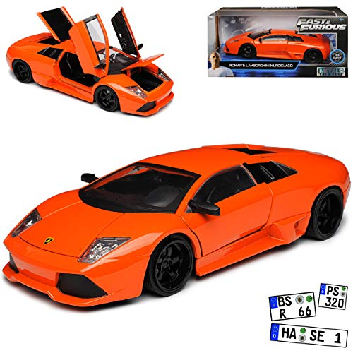 Lamborgihini Murcielago Orange Roman´s The Fast and The Furious 1/24 Jada Modell Auto