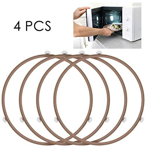 4 Packungen 8,7 Zoll Mikrowellen Rollenring Mikrowellen Ofen Plattenspieler Ring Platten Tablett Drehen Rotierender Stützring für Glasplattenschale Unterstützung