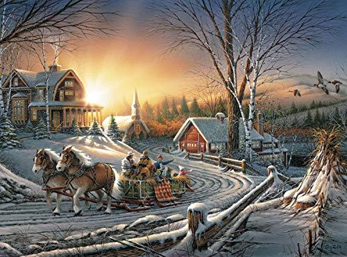- Terry Redlin - Los placeres del invierno - Puzzle de 1000 piezas 29.5 * 19.7in