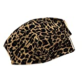 Made in USA! 2 Pack Face Mask - Comfortable Protective Face Mask/Washable & Reusable/One Size Fits Most / (Leopard8)