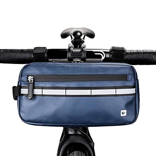 Jannyshop-123 Bolsa de Manillar de Bicicleta Impermeable Paquete de Cesta de Bicicleta Bolsa de Almacenamiento para Montaña Bicicleta Scooter Eléctrico Coche de Equilibrio