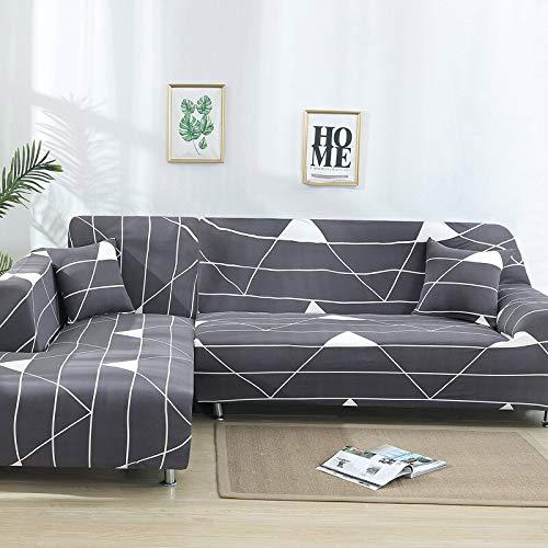 WXQY Funda elástica para sofá de Esquina en Forma de L, Antideslizante, Paquete Ajustado, Funda Protectora para sofá, combinación de protección para Mascotas, Funda para sofá A3, 1 Plaza