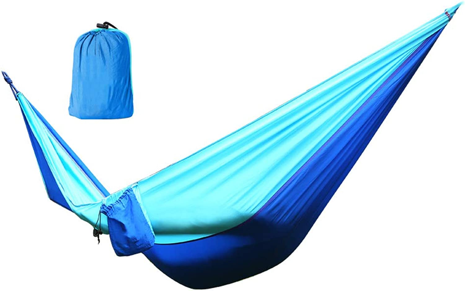 Outdoor Hammock Double Parachute Cloth Indoor Dorm Room Bedroom Swing Mountaineering Leisure Lifts (color   bluee)