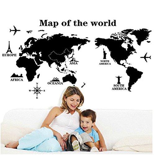 vinilo mapa mundi pared fabricante YiMall