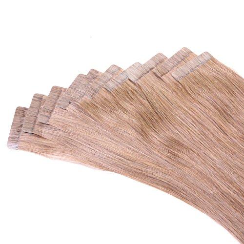 Just Beautiful Hair and Cosmetics Lot de 30 extensions en cheveux Remy Avec bandes adhésives 30 x 2,5 g 45 cm