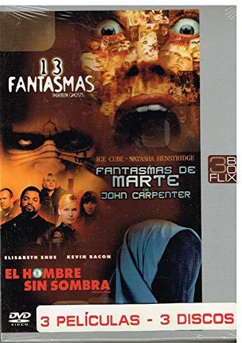3FlixBox: 13 Fantasmas + Fantasmas de Marte + El Hombre sin Sombra.