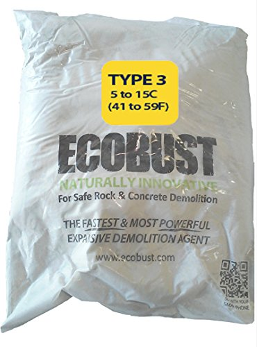 Ecobust USA Type 3 (40F to 60F) 11 lb Concrete Cutting and Rock Breaking Non-Combustive Demolition Agent