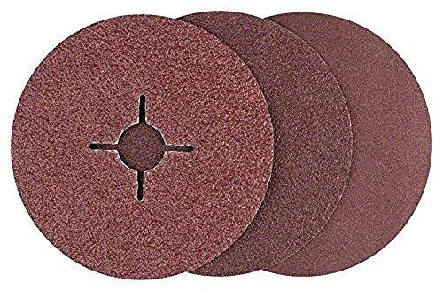 Bosch DIY 12tlg. Fiberschleifscheiben-Set (für Winkelschleifer verschiedene Materialien, Ø 125 mm, Körnung 36/60/100)