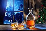 DIY Oil Paint by Number for Adults Beginner- Whisky Christmas Eve 16x20 Inch (with Frame)