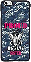 FIDIKO Proud US Navy Sister Camo Protective Cases Compatible iPhone 6s, coulorful Hard Plastic Slim | Dust-Proof Case Cover Compatible iPhone 6 / 6s