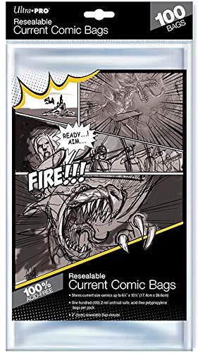 Ultra Pro - Sacchetti per fumetti, 100 pezzi